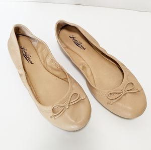 Lucky brand tan leather flats size 7.5M